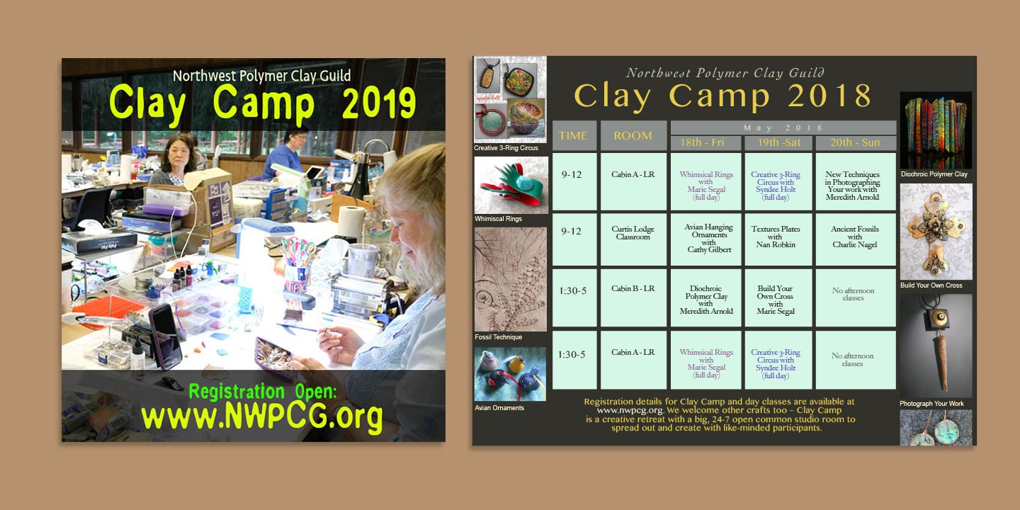 Designed NWPCG Clay Camp eposters and promos published in Facebook and Instagram