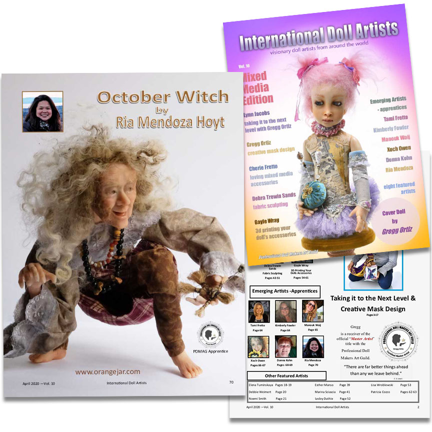 OrangeJar in International Doll Artists Magazine